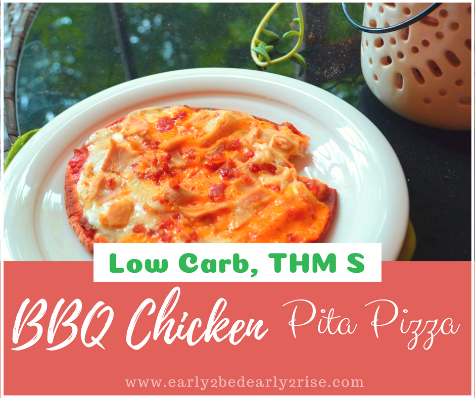 Low Carb BBQ Chicken Pita Pizza and Low Carb BBQ Sauce Recipe
